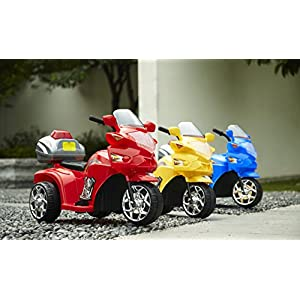 3 Wheel Ride-On Police Motorbike for Kids- #818 Red Color