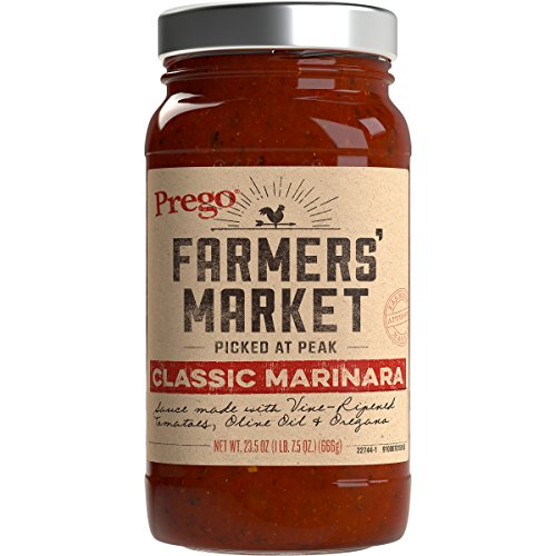 (Prego Farmers' Market Sauce, Classic Marinara, 23.5 Ounce (Packaging May Vary))