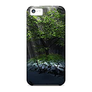 New Hard Cases Premium Iphone 5c Skin Cases Covers(green Tree)