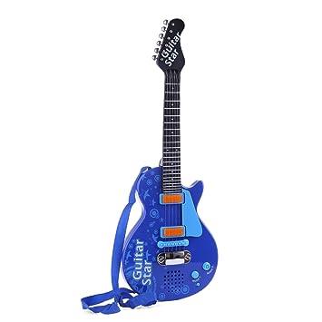 Sunbary Guitarra Electrica Niños - Guitarra Juguete para niños - 6 Cuerdas Guitarra Clásica Juguete Eléctrico del Instrumento Música para Principiante para ...