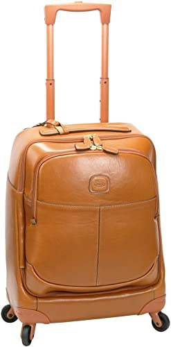 Bric s Luggage Life Pelle 21 Inch Carry On Spinner, Cognac, One Size