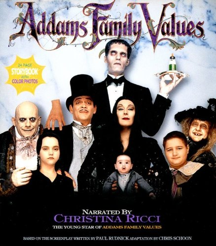 ADDAMS FAMILY VALUES STORYBOOK WITH COLOR PHOTOS /MOVIE TIE-IN