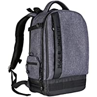 Large Camera Bag Professional Camera Backpack by K&F Concept for Canon Nikon Sony DSLR Laptop Tripod Camera Backpack Grey