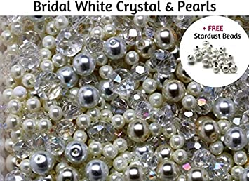 100x Clear Round Acrylic 10mm Faceted Beads Jewellery Crafts Bracelet