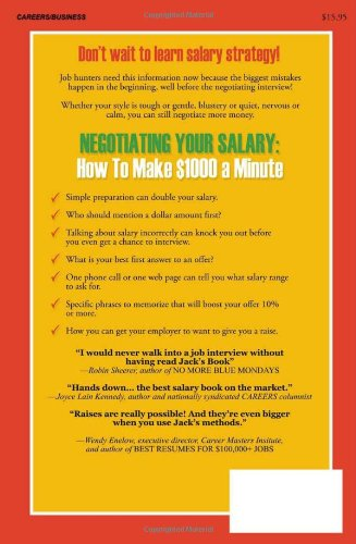 Negotiating Your Salary: How To Make $1000 a Minute: M.A. Jack ...