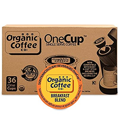 The Organic Coffee Co. OneCup, 36 Count
