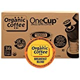 Organic Coffee Co. OneCup, Breakfast Blend, 36 Count- Single Serve Coffee, Compatible with Keurig K-cup Brewers