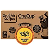 Organic Coffee Co. OneCup Breakfast Blend (36 Count) Single Serve Coffee Compatible with Keurig K-cup Brewers Single Serve Coffee Pods, Compatible with Cuisinart, Bunn, iCoffee single serve brewers