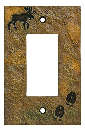 Moose Switch Plates (Big Sky Carvers 30170444 Moose and Tracks Decorative Switch Plate)