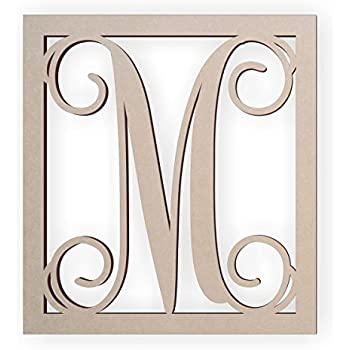 jess and jessica wooden letter m wooden monogram wall hanging large wooden letters cursive wood letter
