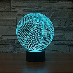15 Basketball 3D Optical Illusion Night lamp 7 Color Changing LED Light for Kids Bedroom Decor