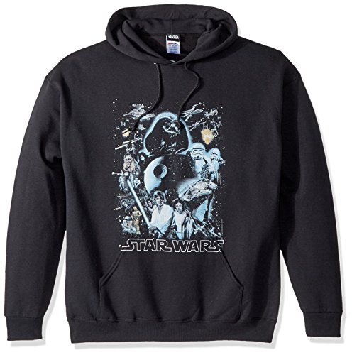 Star Wars Unisex-Adult's Men's Galaxy of Graphic T-Shirt, Black // Hoodie, Medium]()