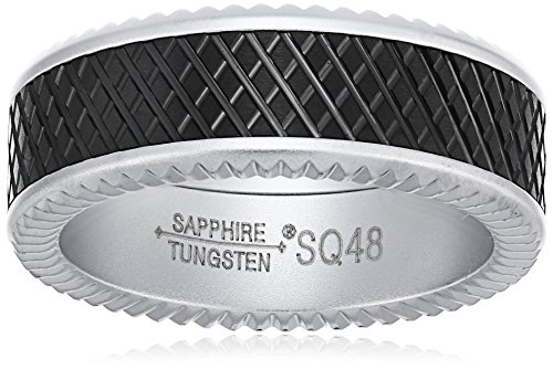 sapphire-tungsten-8mm-black-crosshatch-finish-matte-titanium-interior-comfort-fit-wedding-bands-ring