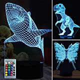 Three in One 3D Illusion Lamp-Three Pattern and 7