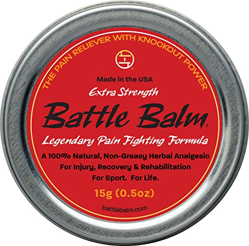 Extra Strength Pain Relief (0.5-ounce) - Battle Balm | All-Natural and Organic Topical Analgesic for Arthritis, Muscle Soreness, Sprains, Strains and more.