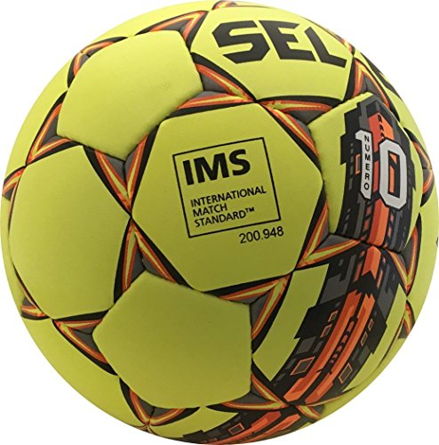 Select Numero 10 Soccer Ball with Duffle Ball Bag and Soccer Ball Hand Pump(Pack of 4), Yellow, Size 5 by Select (Image #5)