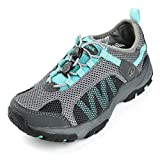 Northside Women's Niagara Water Shoe, Gray/Aqua, Size 9 M US