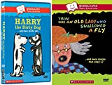 Scholastic Video Collection 2-DVD Bundle - There Was an Old Lady Who Swallowed a Fly & Harry the Dirty Dog..and More Terrific Tails