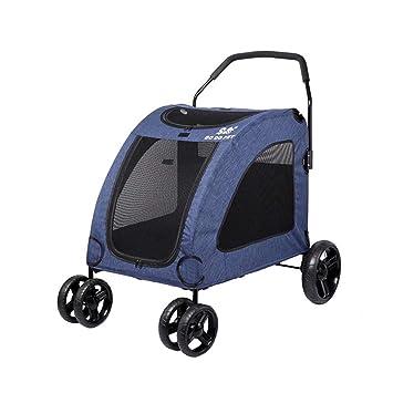 PLDDY Bolsa de Mascotas Cochecito Plegable para Mascotas, Carro, Carro de Cuatro Ruedas Carrito