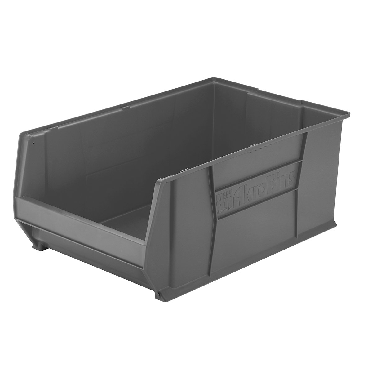Akro-Mils 30290 Plastic Stacking Storage Akro Bin, 29-Inch Diameter by 18-Inch Width by 12-Inch Height, Grey