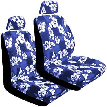 BDK FreshProtect Midnight Maui Sideless Fun Graphic All Protective Front Seat Covers for Auto Cars Non Fade Sedan Truck SUV Minivan Universal 2 Piece