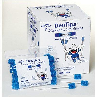 MDS096202 - DenTips Oral Swabsticks,Blue