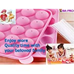 BA-PRO JNXD-119, 20-Cavity Ball Shape Baking Mold, Muffins Cupcakes Cookware Silicone Set, Best for Brownies, Pies, Lollipops, Candies, Jelly and Chocolate, Ice Cream Tray, 228/186/40mm (L/W/H), Pink 13 BAKING EXPERIENCE with ZERO FRUSTRATION It's Humongous: a Multi-Use Cookware of Sturdy yet Flexible Double Tray Cupcake Pan that Will Carry All Baking Endeavors with Embarrassing Ease and Effortless Comfort. Elegant Shape, Available Here in Our USA Stock