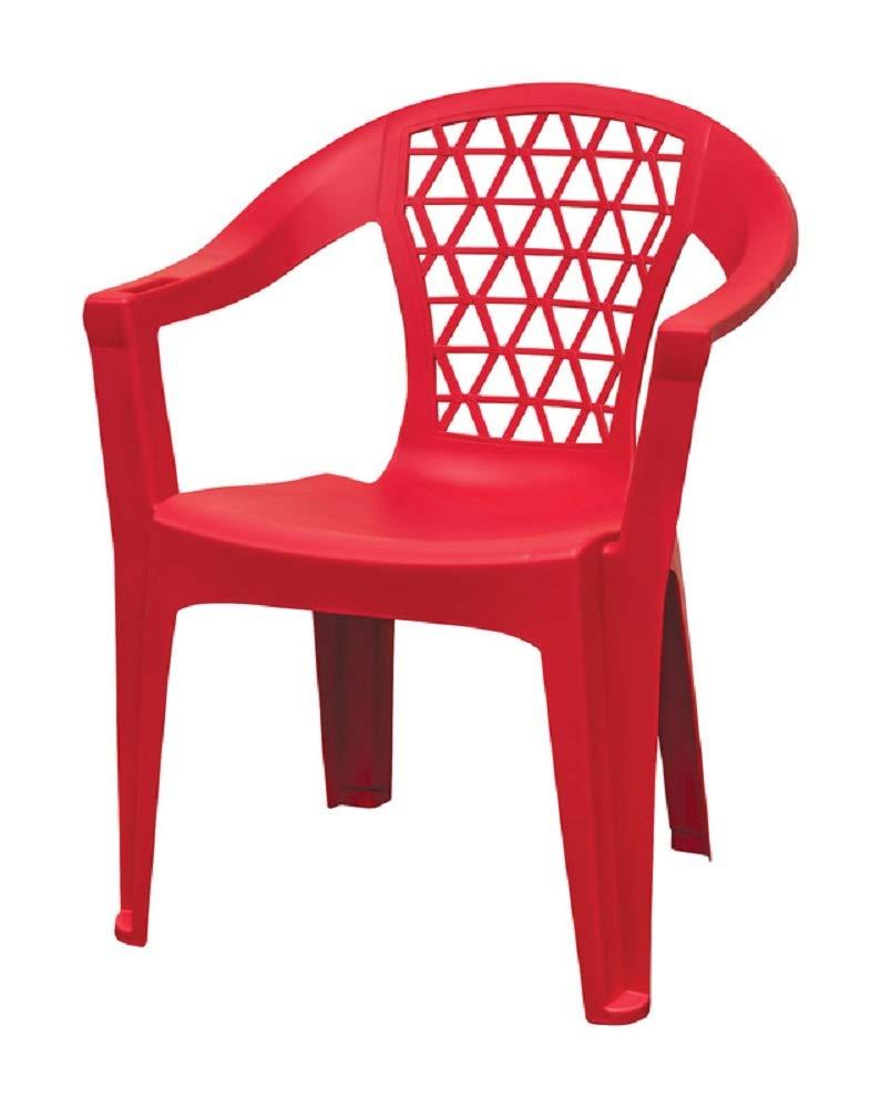 Adams 8220-26-3700 Penza Stackable Chair, Polypropylene, Red by Adams (Image #1)