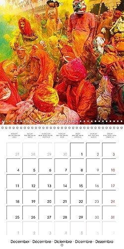 La fête des couleurs: la holi en Inde : La fête de Holi: photos de l'Uttar Pradesh. Calendrier mural 2017