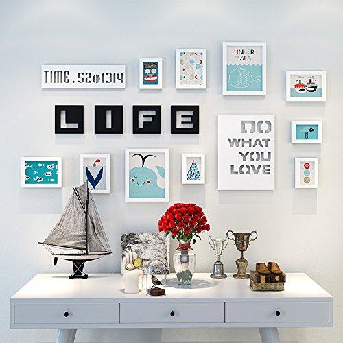 Bilderrahmen der Wall Kombination Kinder Zimmer cartoon Foto an der Wand mit Buchstaben keine Kratzer Nägel, weiß Cartoon picture element im Mittelmeer