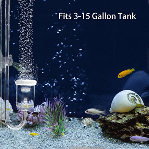 Mejorage Air Diffuser with Airline Tubing, Air Stones with Amount of Bubbles Air Diffuser for Fish Tank - Stone Fine Bubble