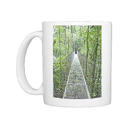 Photo Mug of Hanging bridge in rainforest, La Fortuna, Arenal, Costa Rica, Central America by Robert Harding by Robert Harding