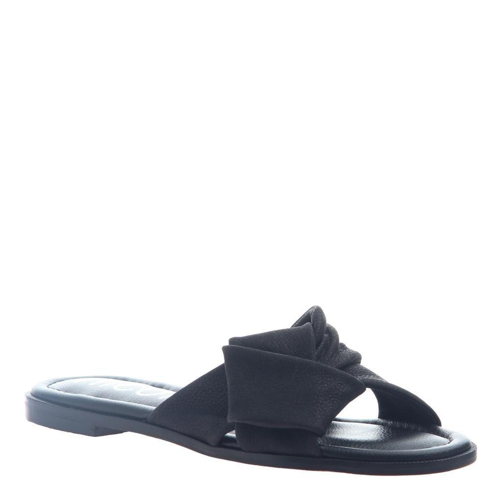 nicole Women's Effie Flats Sandals B07C4YMFLS 7.5 B(M) US|Black