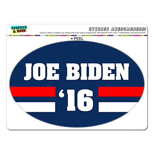 Biden 2016 Joe Biden for President Lg Oval Window Bumper Presidential Political Sticker