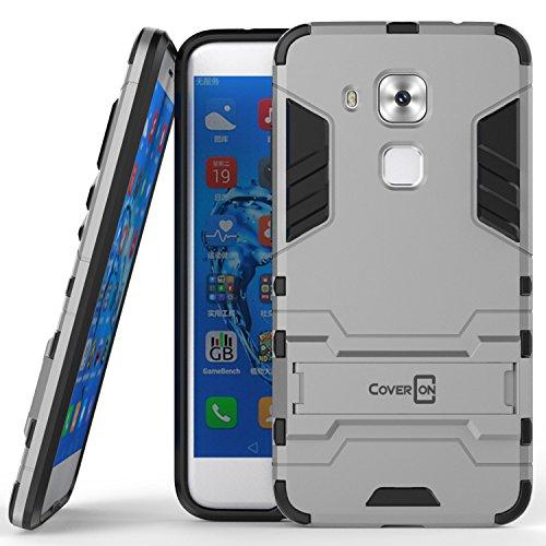 Huawei Nova Plus Case, Huawei G9 Plus Case, CoverON [Shadow Armor Series] Hard Slim Hybrid Kickstand Phone Cover Case for Huawei Nova Plus / G9 Plus - Silver/Black