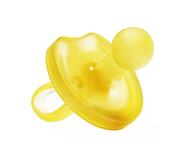 Natursutten Large 12 mo up, Natural Rubber Pacifier, Butterfly Shield, Rounded Nipple