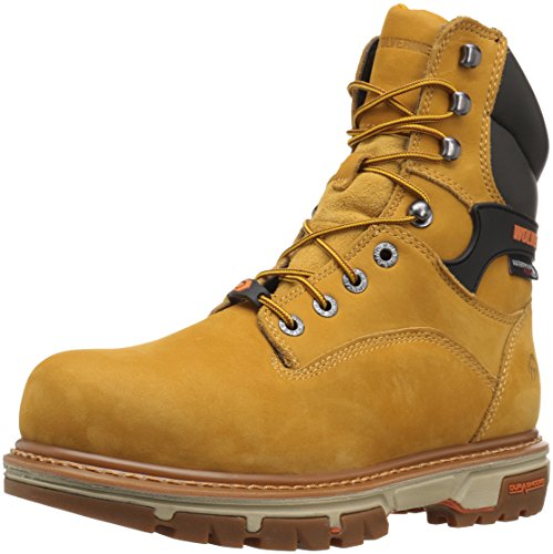 Wolverine Mens Nation 8 inch Insulated Waterproof Comp Toe Work Shoe Wheat