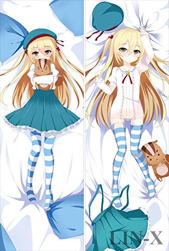 LIN-X Inou Battle wa Nichijou kei no Naka de Chifuyu Himeki 150x50cm(59in x 19.6in) 2Way Tricot Pillowcase