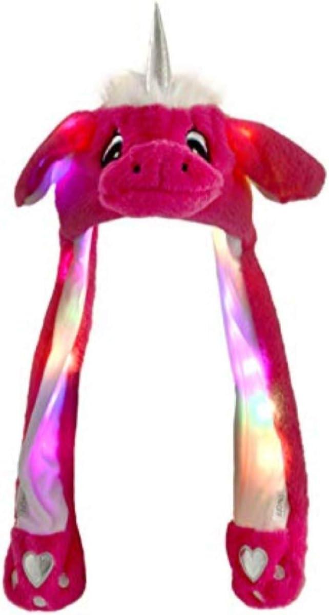 Bonnet Licorne Avec Oreilles Qui Bougent Pink Avec Lumières Led Animal En Peluche Chapeau Drôle Taille Unique Pour Enfants Et Adultes Accessoire Anniversaire Carnival Fête Amazon Fr Jeux Et Jouets