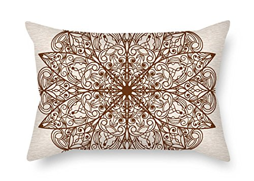 Needlepoint Paisley Brown (TonyLegner Flower Cushion Covers 16 X 24 Inches / 40 by 60 cm Best Choice for Home Theater Kids Boys Floor Wedding Him Shop with Double Sides)