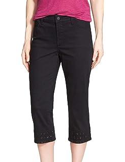 NYDJ Womens Petite Hayden Crop Colored Denim Jeans