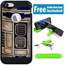 Apple iPod Touch 5/6 5th/6th Generation Hybrid Armor Defender Case Cover with Flexible Phone Stand - Star Wars Vint Robot