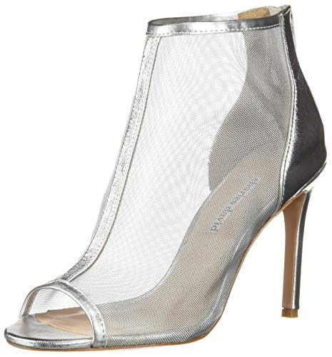 - Charles David Women's Court Ankle Boot, Silver, 8 M US