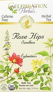 Celebration Herbals Rose Hips Seedless C/S Tea Organic Loose Pack, 85Gm