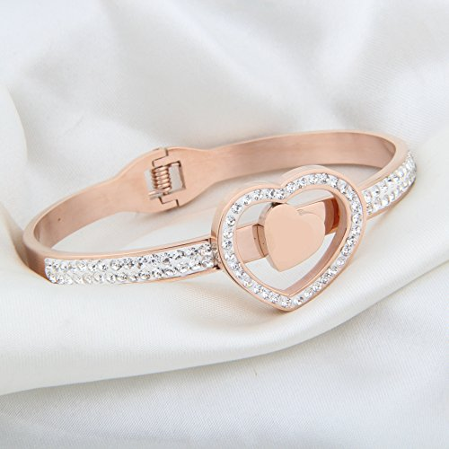 MYOSPARK Rose Gold Zodiac Sign Bracelets Constellation Jewelry Birthday Gift for Women Girl