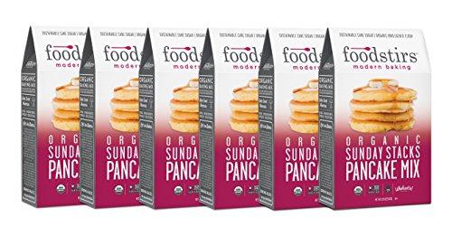 (Foodstirs Organic Sunday Stacks Pancake Mix 20 Ounce (Pack of 6))