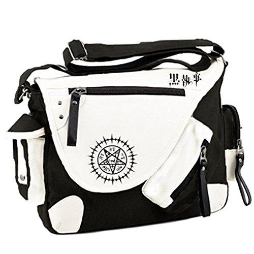 Black Leather Butler Bag - 3
