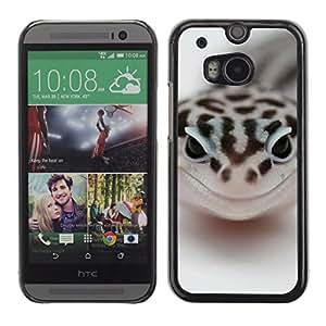 Caucho caso de Shell duro de la cubierta de accesorios de protección BY RAYDREAMMM - HTC One M8 - Feliz Serpiente