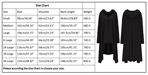 onlypuff Women's Pullover Hoodie Asymmetric Hem Sweatshirts Tunic Tops For Women Solid Color Dress (XXXXX-Large, Military Green)