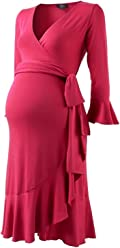 a503c7afd8e Isabella Oliver Ruffle Wrap Maternity Dress